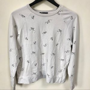 Forever 21 paper airplane sweater
